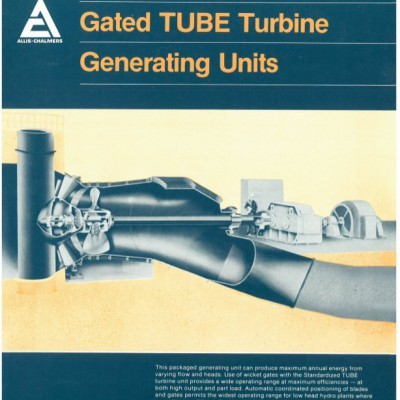 Allis Chalmers HydroElectric Turbine Unit